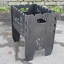 Мангал карпятника рыбацкий подарочный с надписью Fox 5мм (можно изготовить под ваш дизайн).