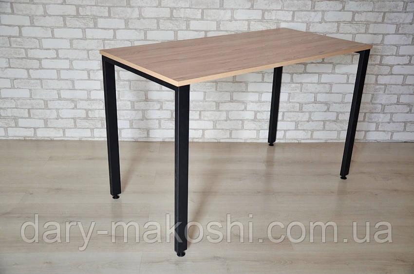 Стол обеденный Тавол КС 8.5 металл опоры черные 140смх60смх75см ДСП 18мм Ясень/Черный