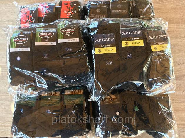 Шкарпетки чоловічі бавовняні у асортименті кольорів «Смужка»,, фото 2