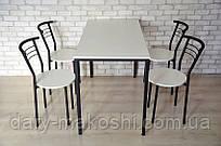 Комплект Тавол КС 8.5 + 4 стула 120смх70смх75см Белый/Черный