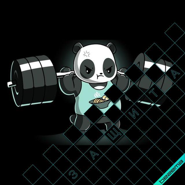 Термонаклейки на одежду Панда [Свой размер и материалы в ассортименте]