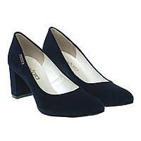 Туфлі жіночі замшеві на товстому каблуці ZanZara 36