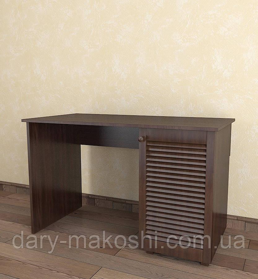 Стол письменный с жалюзийными дверями из дерева Тавол Сиеко СТ1Т 1200х600х750 Венге