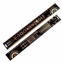 PCB Ruler линейка шаблон для электронщика радиолюбителя 25см, 105333