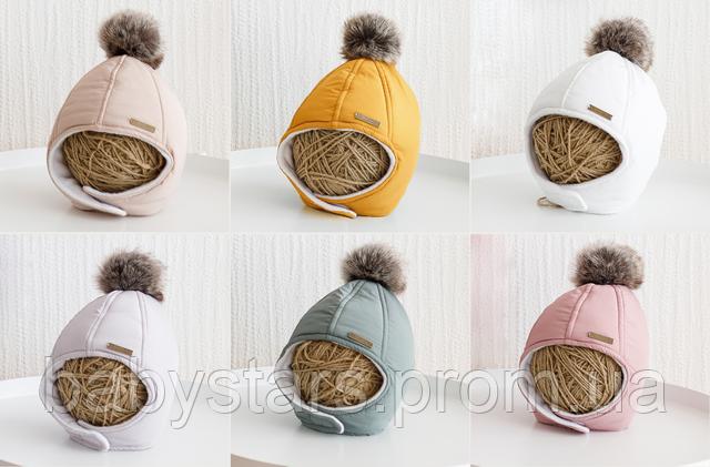 шапочка на зиму для малыша
