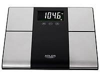 Весы напольные электронные аналитические Adler AD 8165, до 225 кг, с LED-дисплеем