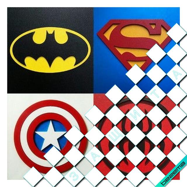 Термонаклейки на одежду Знаки супергероев [Свой размер и материалы в ассортименте]