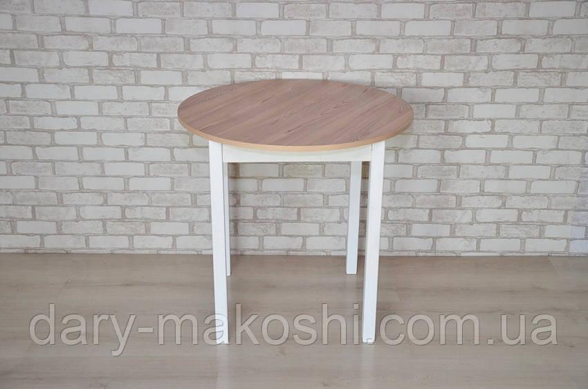 Круглый стол Тавол Крег D1000 ножки прямые деревянные Ясень