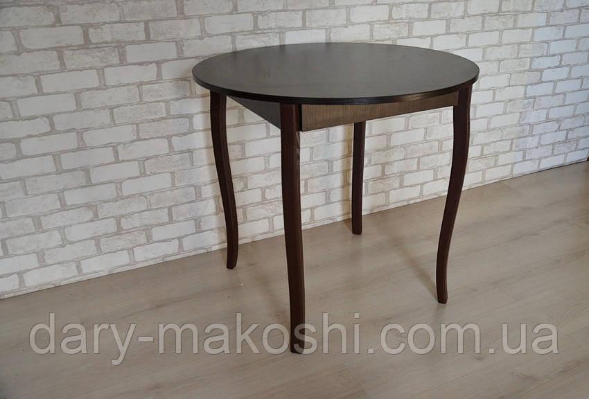 Круглый стол Тавол Крег D600 ножки фигурные деревянные Венге