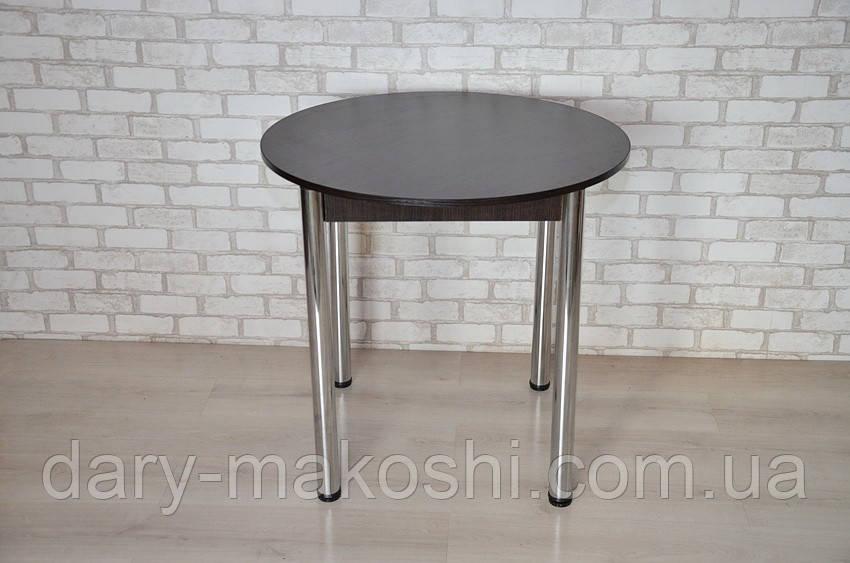 Круглый стол Тавол Крег D600 ножки хром Венге