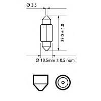 Автолампа C5W  5W Philips 12844CP Vision