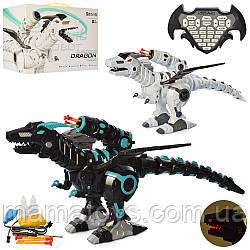 Динозавр на Радиоуправлении K600-20-20A Пускает дым, Звук, свет, ездит, стреляет