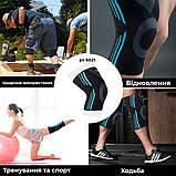 Эластический наколенник Power System Knee Support Evo PS-6021 M Black/Blue, фото 6