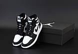 Кросівки жіночі Nike Air Jordan в стилі найк джордан Чорні НА ХУТРІ (Репліка ААА+), фото 2