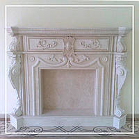 Декоративный каминный портал из мрамора: цена, фото., фото 1