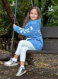 Детская джинсовая парка теплая, фото 6