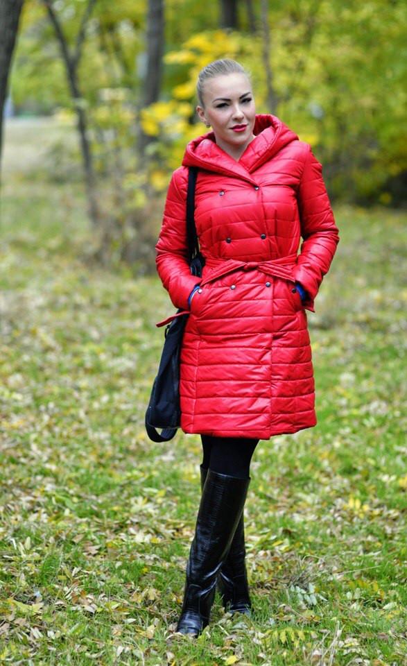 Женское теплое стеганое пальто