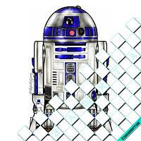 Термонаклейки на одежду R2-D2 [Свой размер и материалы в ассортименте]