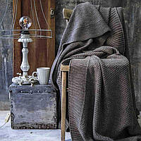 Вязаное покрывало Комильфо 200х220 капучино VZ515, фото 1