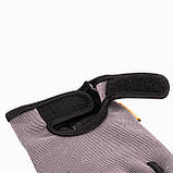Перчатки для фитнеса и тяжелой атлетики Power System Pro Grip PS-2250 XXL Grey, фото 3