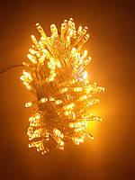 Гирлянда светодиодная 100 Led Шампань теплый свет белый провод