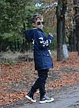 Детская джинсовая парка теплая, фото 7