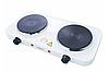 Двухконфорочная электроплита дисковая настольная электрическая плита Crownberg CB-3746 2000W, фото 4