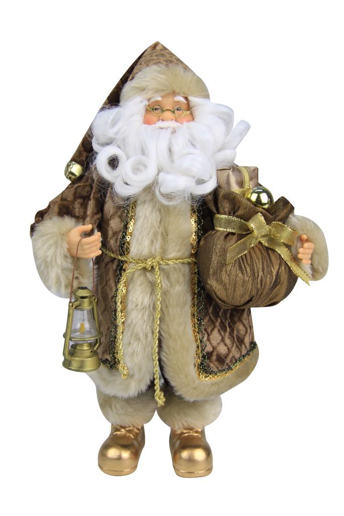Дед Мороз в золотой шубе 30,5см - Магазин подарков Часики в Харькове