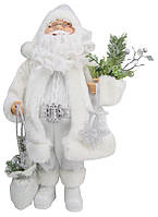 Дед Мороз в белой шубе 46см