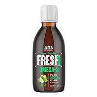 Вітаміни ANS Performance Fresh Веганські Омега-3 зі смаком зелене яблуко 200мл