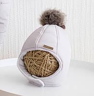 """Зимние детские шапки """"Аляска"""", светло - серый от 38 до 54 см, фото 1"""