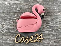 Чехол на Airpods Фламинго розовый, фото 1