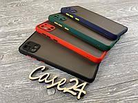 TPU чехол накладка Matte Color Case (TPU) для Samsung Galaxy A31 (4 цвета), фото 1