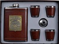 Подарочный набор Jack Daniels (фляга,брелок,2 стопки,лейка)