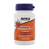 Now Foods Витамин Vitamin D-3, High Potency 2,000 IU, 120 капсул