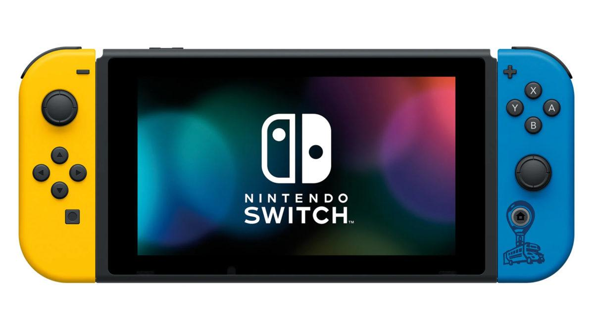 Ігрова консоль (приставка) Nintendo Switch Yellow and Blue (fortnite edition) Без Ваучера