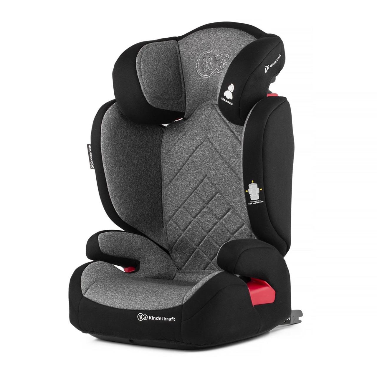 Надежное детское автокресло с подлокотниками Kinderkraft XPAND 15-36 кг grey