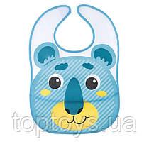 Слинявчик Canpol babies з кишенькою Hello Little  бірюзовий (9/232_tur)