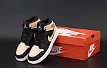 Кросівки жіночі Nike Air Jordan Retro в стилі найк джордан Чорні (Репліка ААА+), фото 3