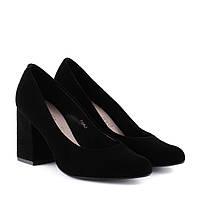 Туфлі жіночі замшеві на стійкому каблуку SALA 39