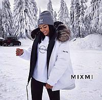 Жіноча зимова куртка-парку з хутром, фото 1