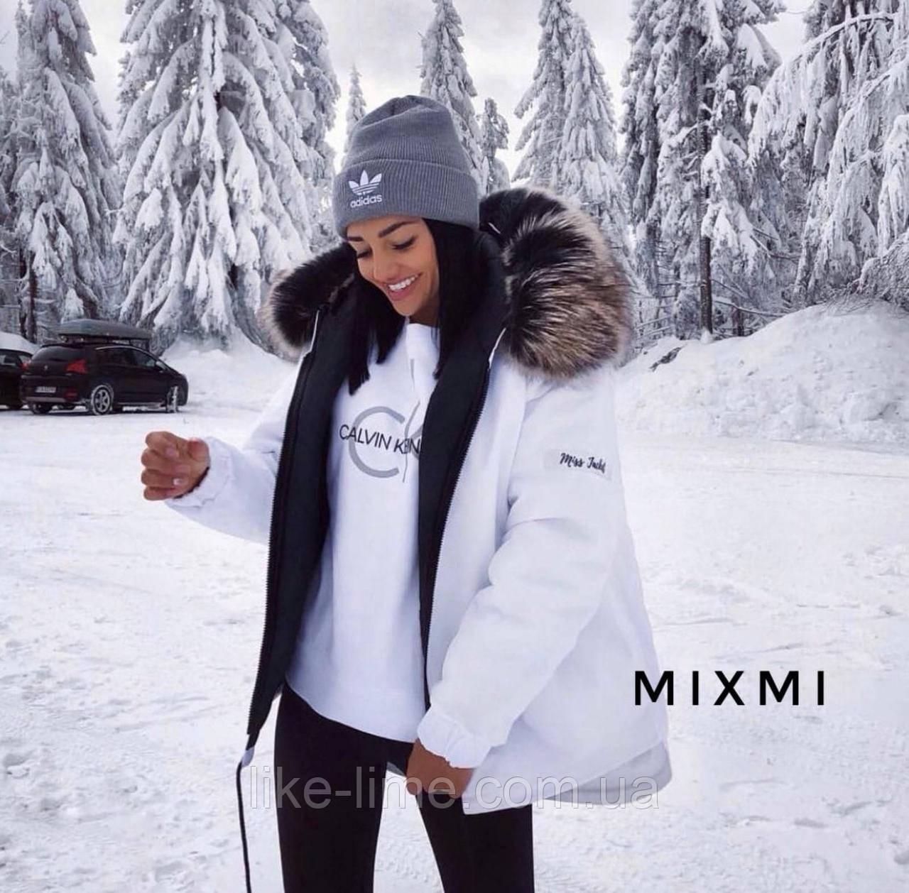 Жіноча зимова куртка-парку з хутром