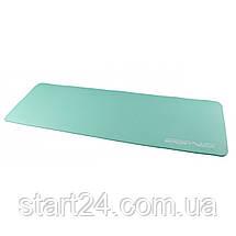 Коврик (мат) для йоги и фитнеса SportVida NBR 1 см SV-HK0067 Mint, фото 3