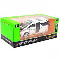Машинка ігрова автопром «Toyota» метал, біла, 20 см, (світло, звук, двері відкриваються) 7685, фото 2