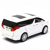 Машинка ігрова автопром «Toyota» метал, біла, 20 см, (світло, звук, двері відкриваються) 7685, фото 5