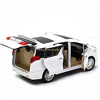Машинка ігрова автопром «Toyota» метал, біла, 20 см, (світло, звук, двері відкриваються) 7685, фото 6