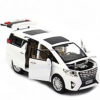 Машинка ігрова автопром «Toyota» метал, біла, 20 см, (світло, звук, двері відкриваються) 7685, фото 8
