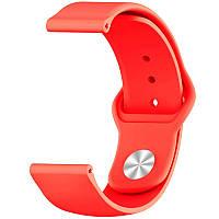 Силиконовый ремешок Sport для Xiaomi Amazfit/Samsung 20 mm Красный / Red