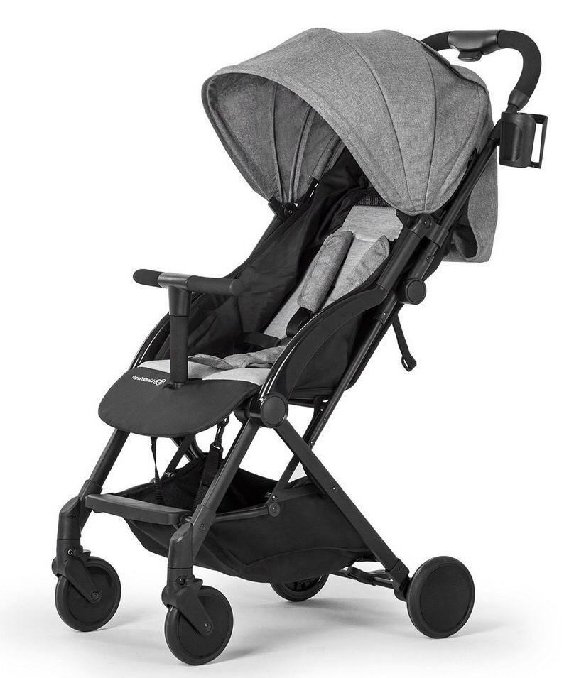 Современная детская прогулочная коляска-книжка Kinderkraft Pilot grey