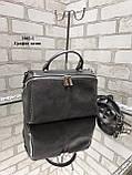 Жіноча сумочка комбінована нат.замша/кожзам 2042-1 без бренду, фото 5
